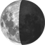Moon at 6 days in cycle